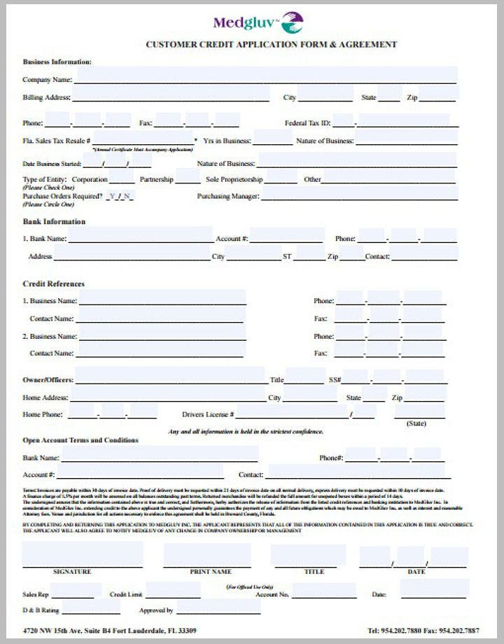 8 credit application form templates pdf free premium templates