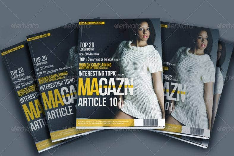 customizable magazine template 788x525