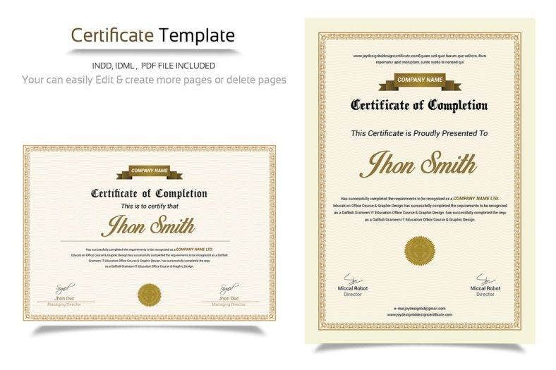 customizable-minimal-certificate
