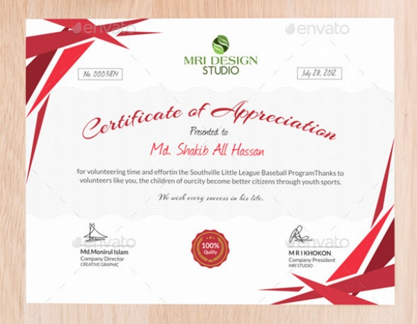 12+ Certificate of Appreciation for Student Templates ...
