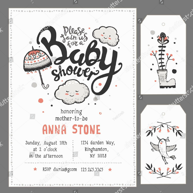 cute baby shower invitation format 788x788