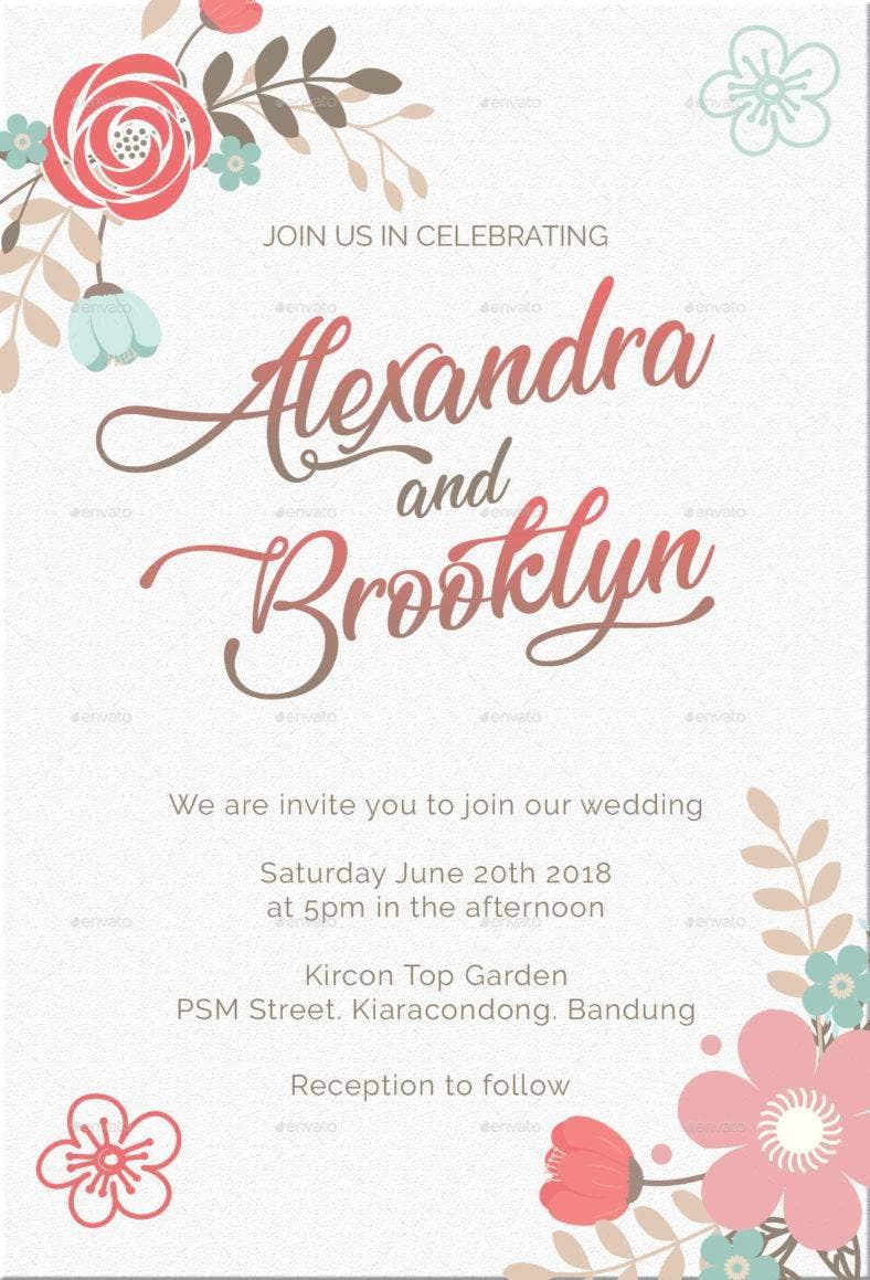 cute marriage invitation template 788x1159