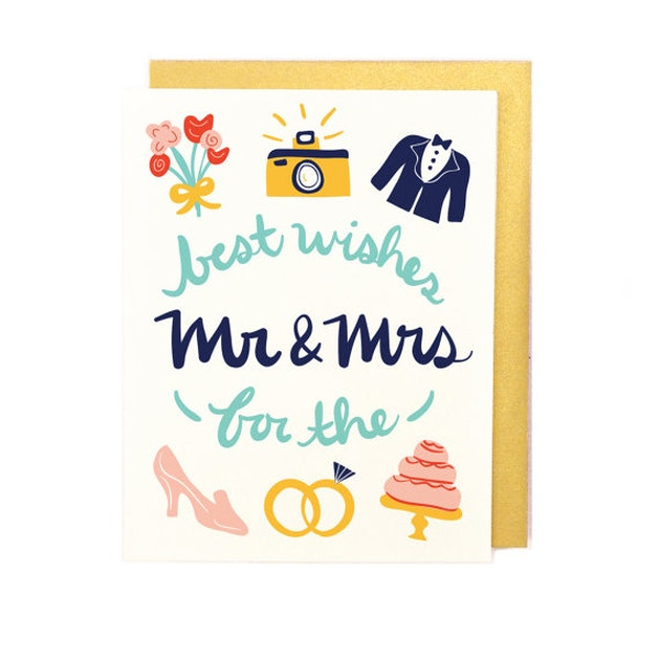 Cute Wedding Wish Card Template
