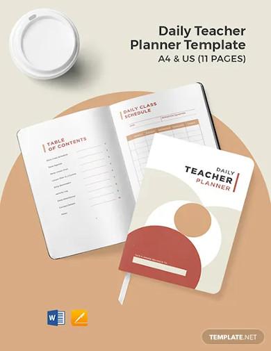 daily teacher planner template