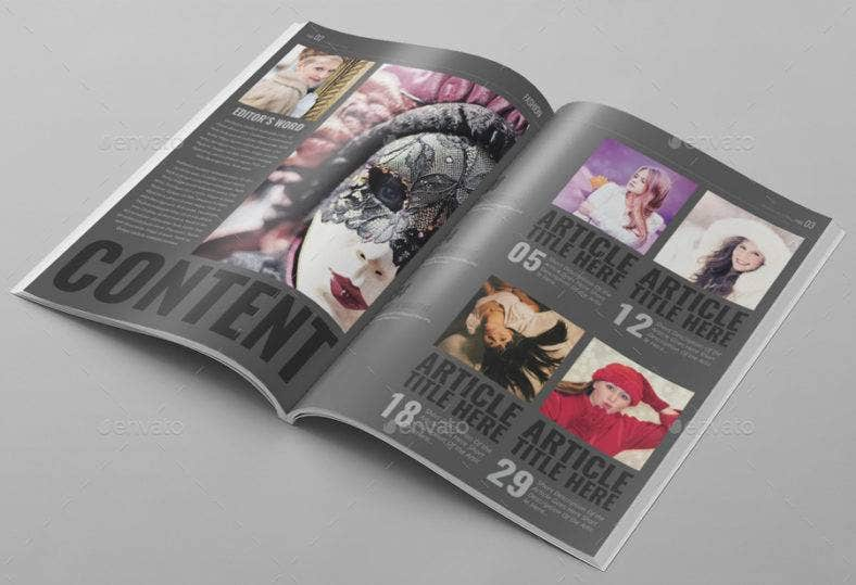 dark magazine template 788x539