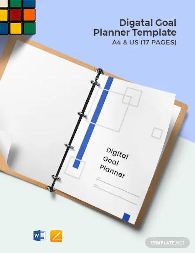 digital goal planner template