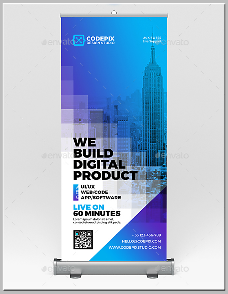 Digital Product Rollup Banner Template