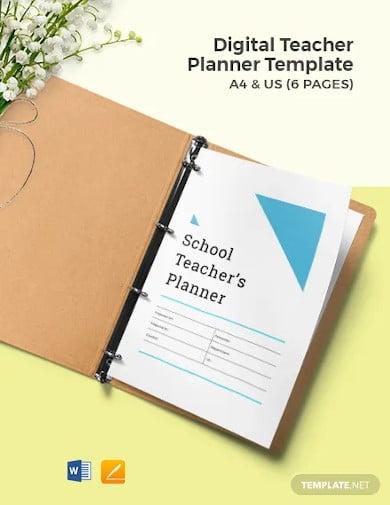 digital teacher planner template