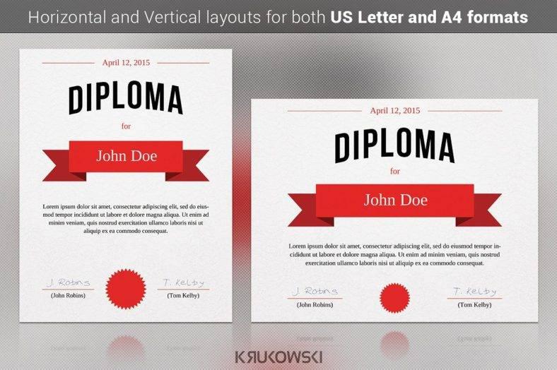 diploma certificate template 788x524