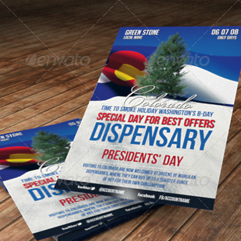 Dispensary Day Cannabis Flyer Template