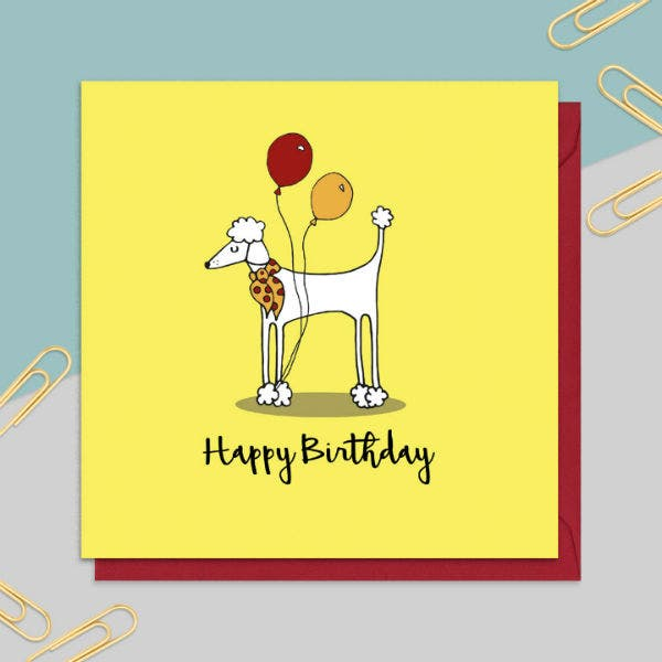 14 Dog Birthday Card Templates Designs PSD AI