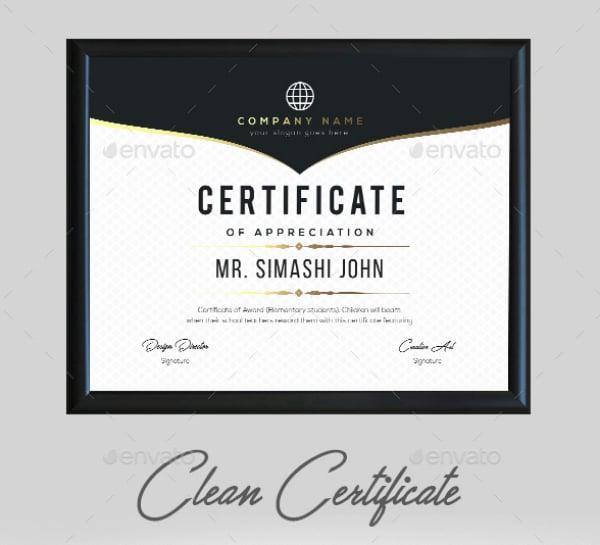 easy to edit appreciation certificate
