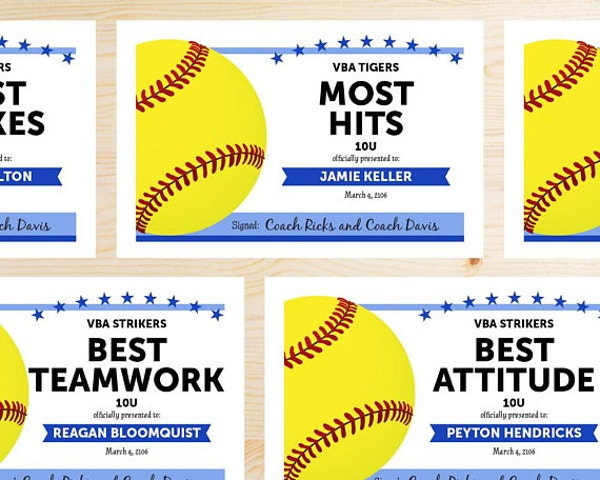 10  participation for sports certificate templates