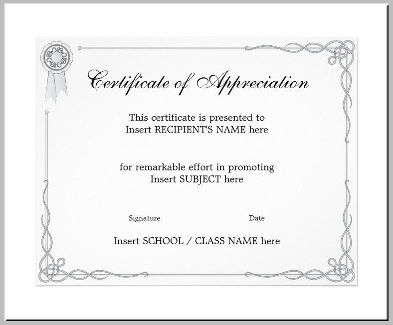 elegant appreciation certificate flyer template 788x652
