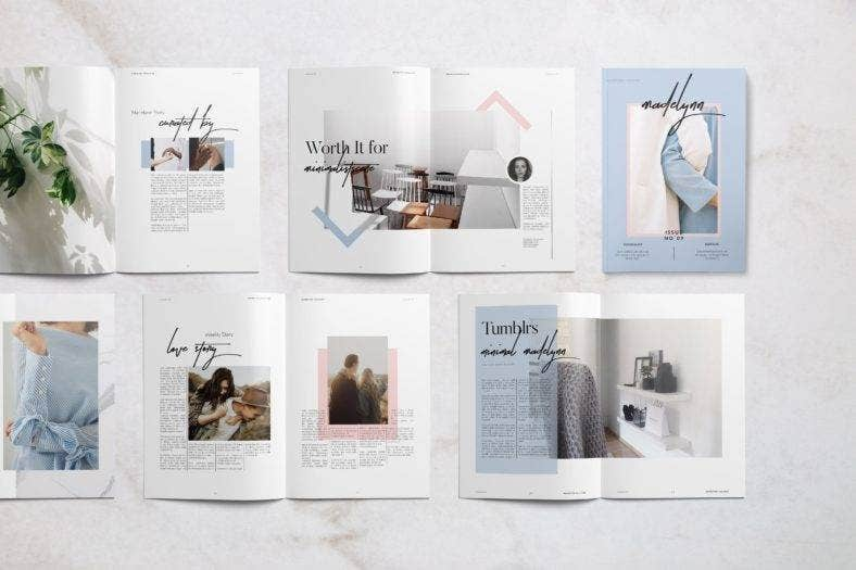 elegant fashion magazine design 788x525