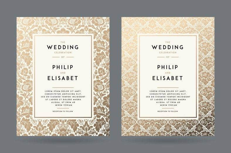 elegant marriage invitation template 788x524