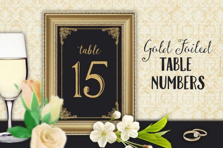 elegant wedding reception table number template