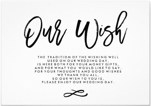 Elegant Wedding Wish Card Template