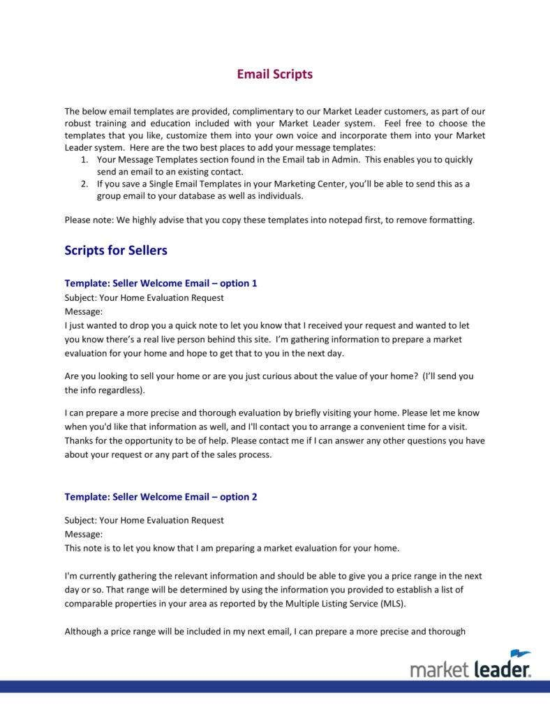 4  real estate follow up letter templates