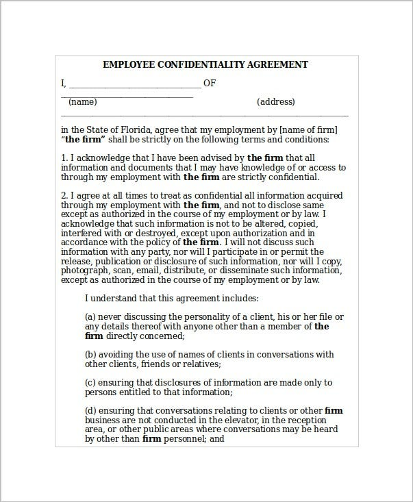 employee-confidentiality-agreement-sample
