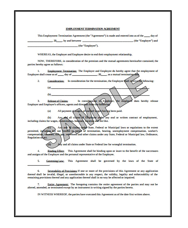 employement termination agreement
