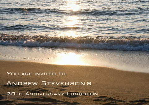 Employment Anniversary Luncheon Invitation
