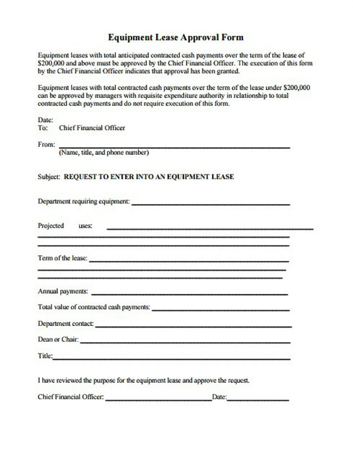 8+ Equipment Lease Request Form Templates - PDF | Free & Premium ...