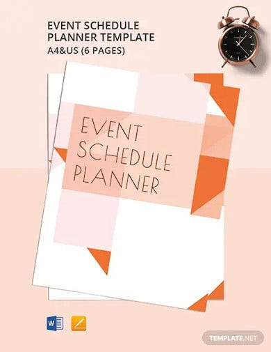 event schedule planner template