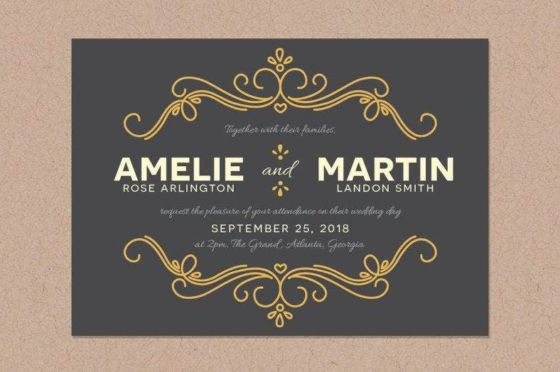 fairy tale marriage invitation template 788x524
