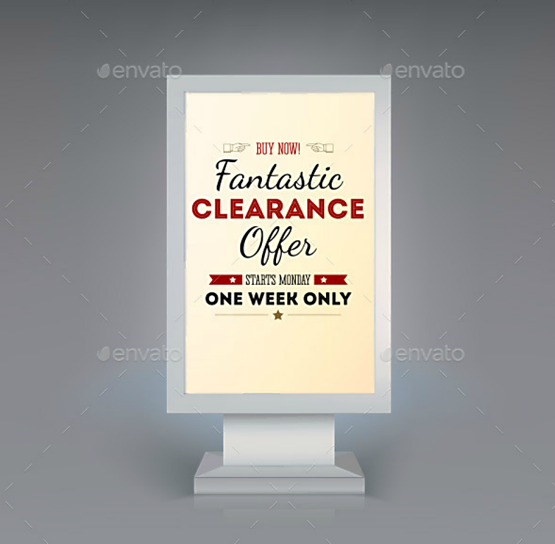fantastic clearance digital signage template 788x772