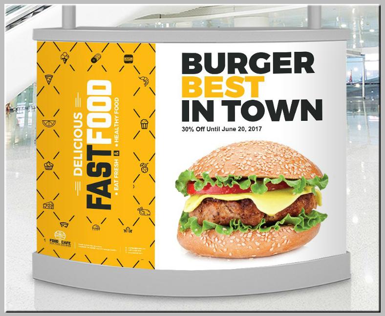 Fast Food Digital Signage Template