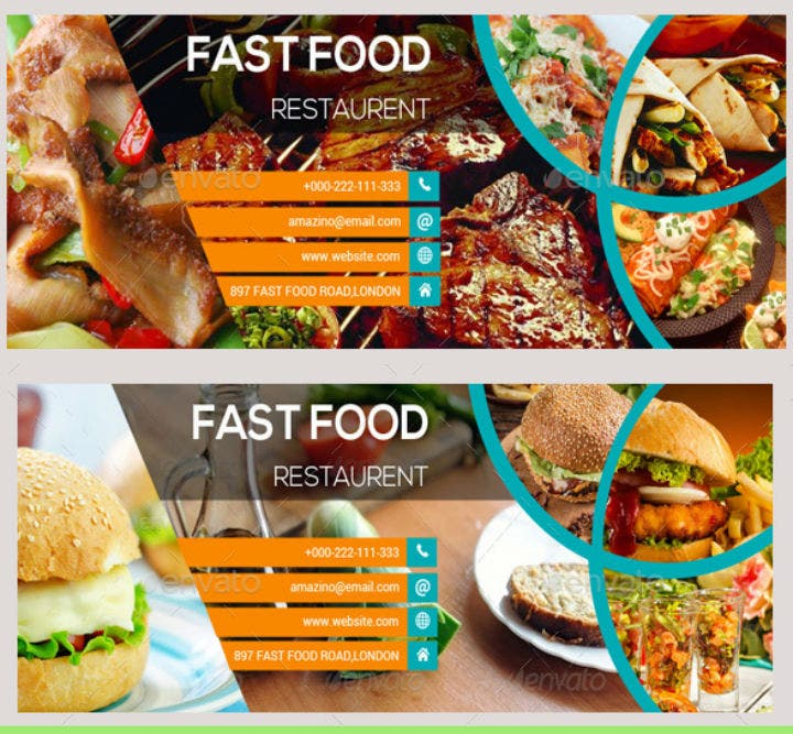 fast food restaurant facebook timeline cover template