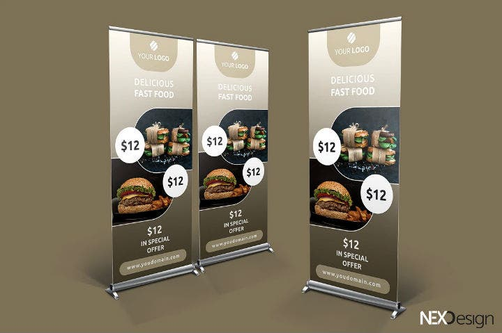 fast-food-roll-up-banner-psd-template