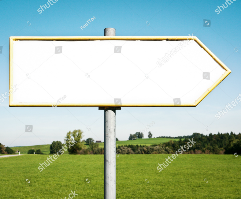 Field Background Blank Direction Sign Template