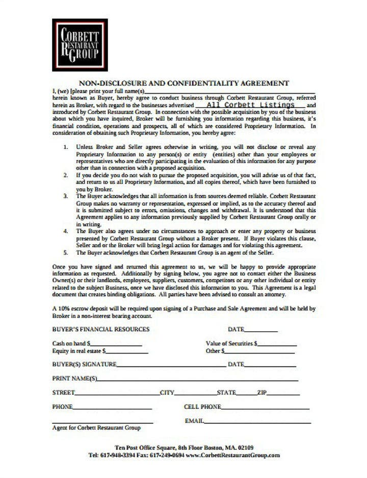 fine-dining-restaurant-non-disclosure-agreement-template