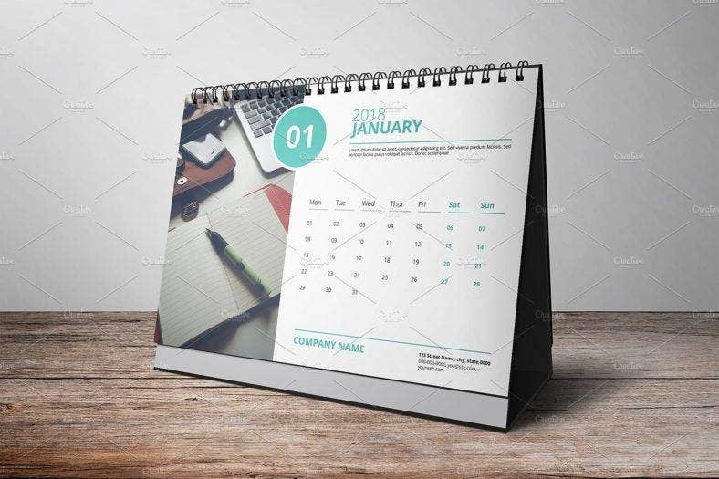 flat table calendar template 788x525