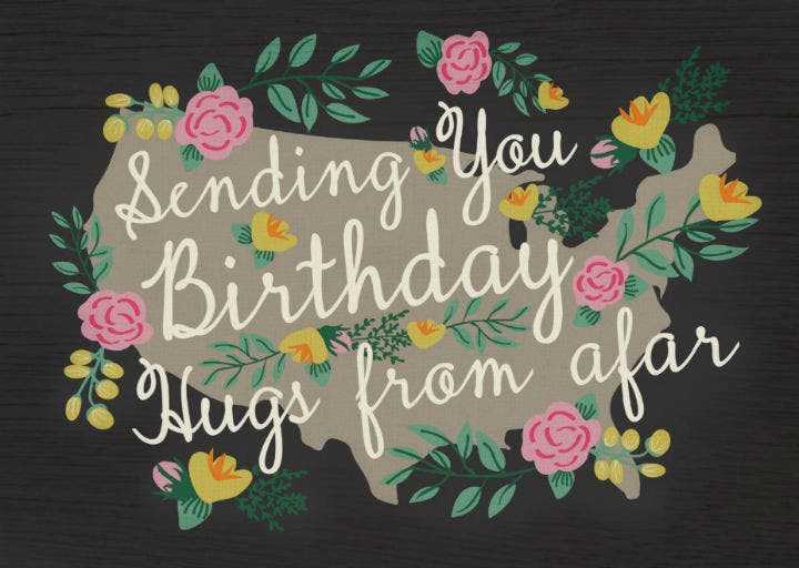 floral girly birthday card template