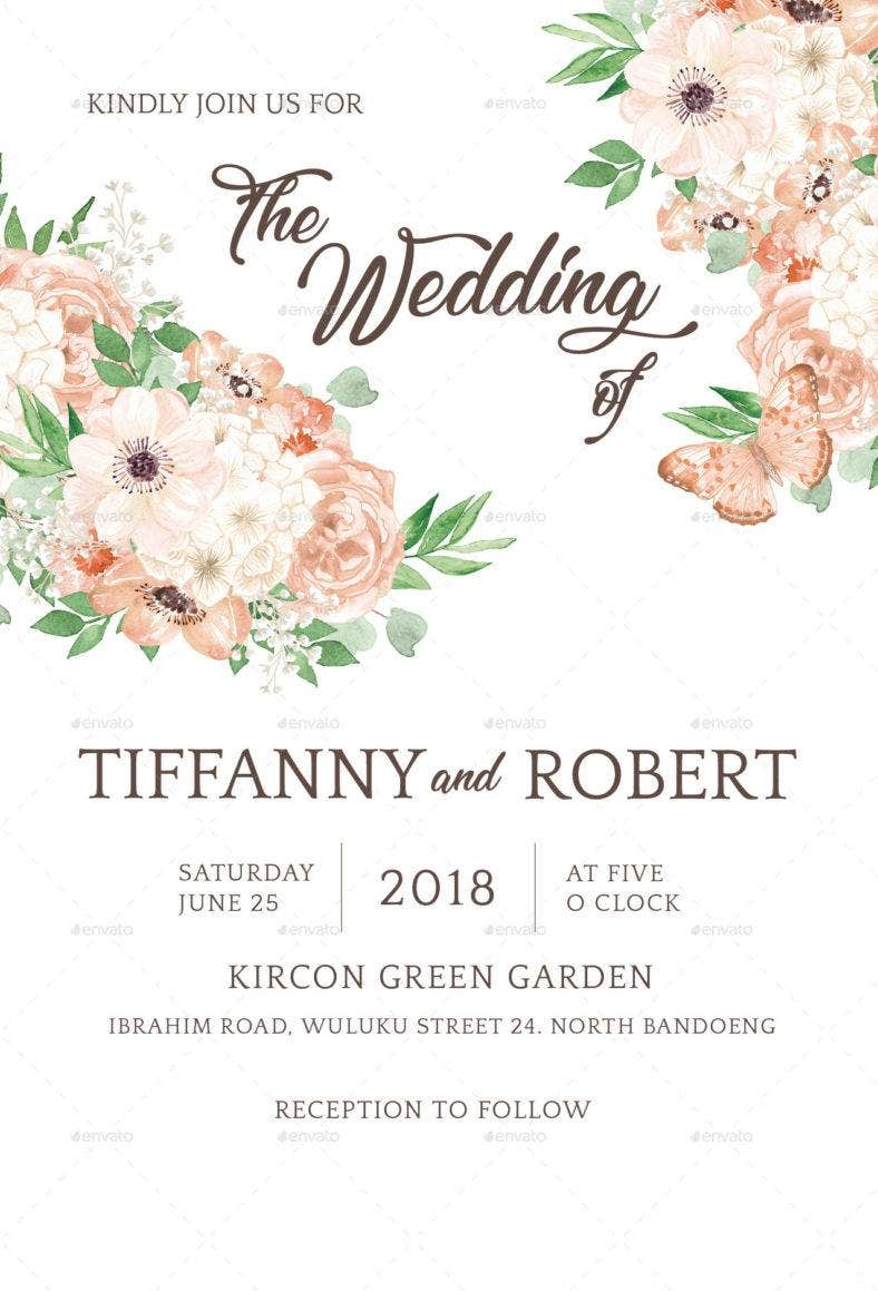 floral marriage invitation template 788x1159