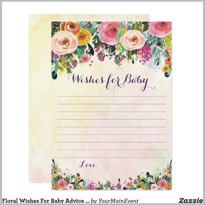 floral-wishes-for-baby-advice-card-template