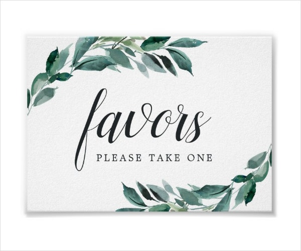 Foliage Wedding Table Signage