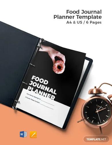 food journal planner template