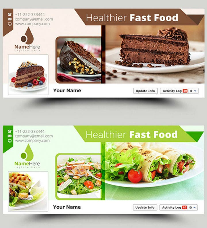 food restaurant facebook timeline template