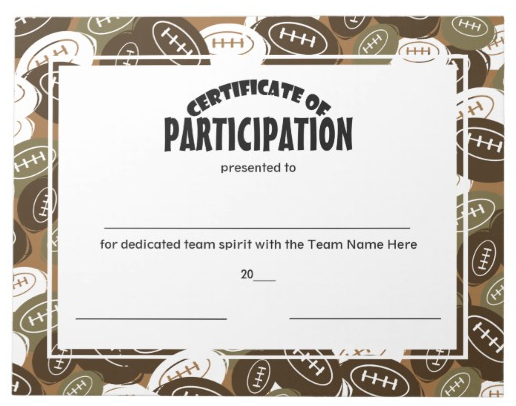 9  participation for sports certificate templates