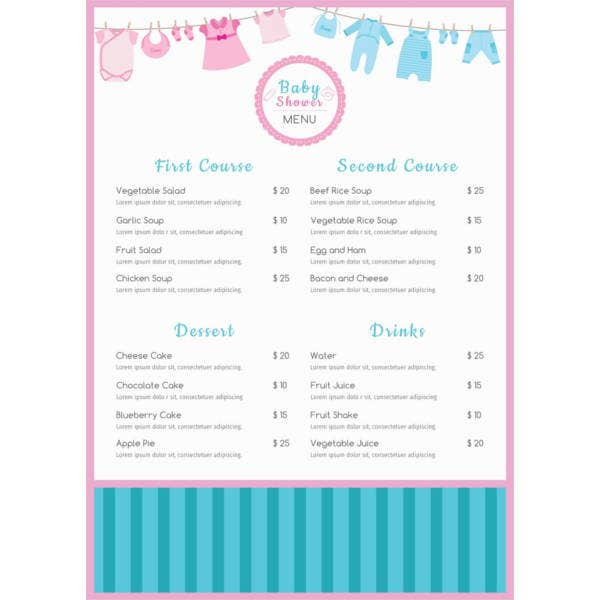 free-baby-shower-menu-template