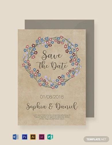 free classic rustic wedding invitation template