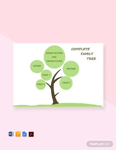 free complete family tree template