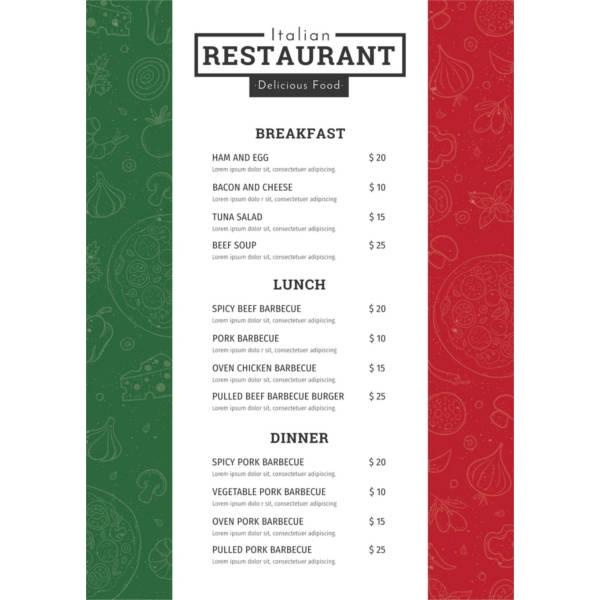 free-italian-menu-template