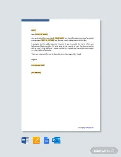 free medical leave letter