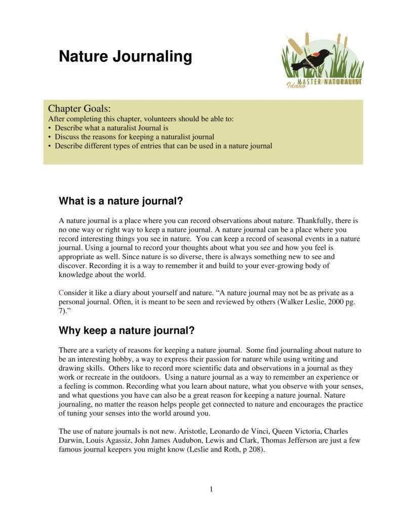 free-nature-journal-template