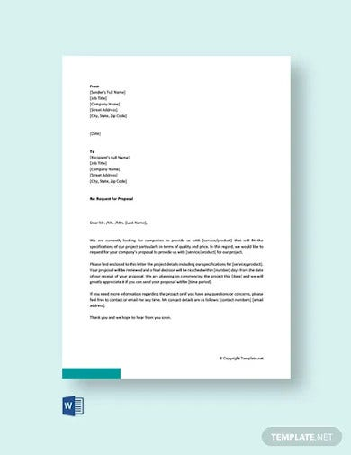 free proposal request letter